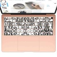 igsticker MacBook Air 13inch 2018 専用 キーボード用スキンシール キートップ ステッカー A1932 Apple マックブック エア ノートパソコン アクセサリー 保護 004092 クール 模様 エレガント 白