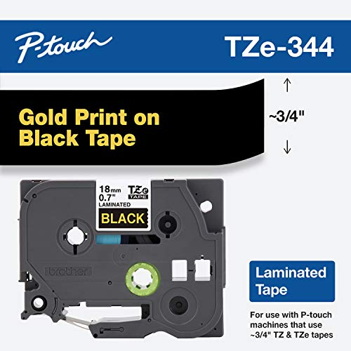 Brother Genuine P-Touch TZE-344 Tape, 3/4