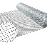 Amagabeli Malla Electrosoldada Galvanizada 12,7x12,7/50cm, Rollo 25 Metros Metalizado Tamaño Grosor del alambre 0,7mm Para Animales y Plantas HC01