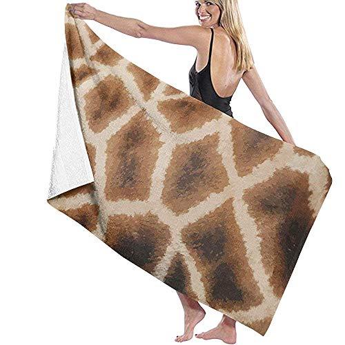 CASU Beach Towel Textura de Piel de Jirafa Toalla de Playa Microfibra Súper Absorbente Personalidad Toalla de baño Secado rápido Manta de Playa
