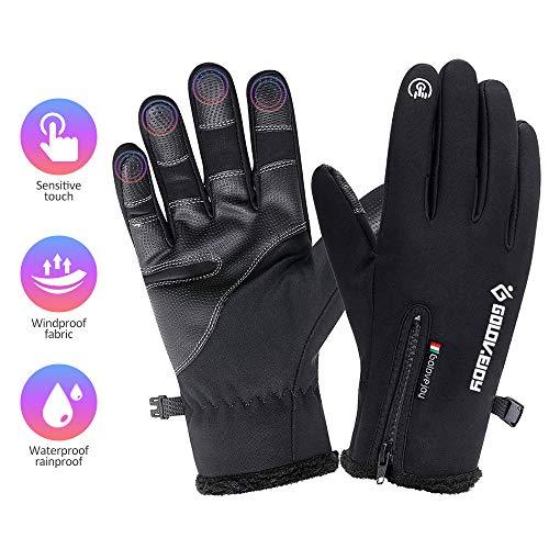 COSYINSOFA Guanti Moto Impermeabili Touchscreen Guanti da Escursionismo da Campeggio per Ciclismo, Guanti da Trekking Termici Antiscivolo per Uomo e Donna (XL:9.0-10in)