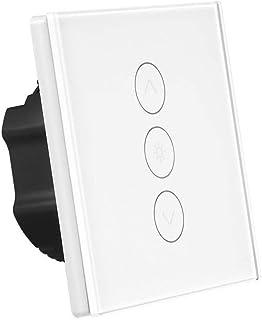 Interruptor de atenuación inteligente 400 W WiFi Touch Stepless interruptor de pared con Alexa/Google Home / IFTTT 1 Gang ...