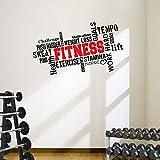 Pro Fitness Wand-Aufkleber mit motivierendem Zitat (in englischer Sprache), ideal fürs...
