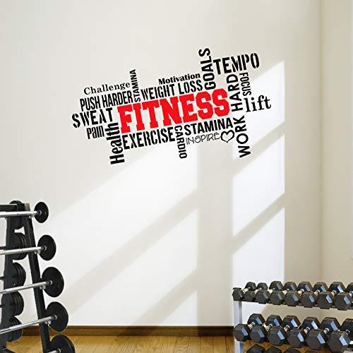 Pro Fitness Wand-Aufkleber mit m...