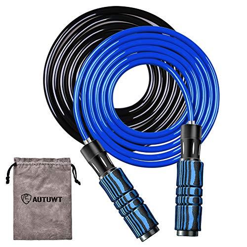Corda per Saltare [6 mm da 1/2 lb e cavo da 9 mm da 1 lb],per cardio, boxe e MMA, allenamento di resistenza, fitness, esercizi di salto, a-rosso …