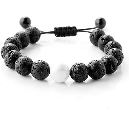 Ladies bracelet elasticated handmade beaded bracelet acrylic beads 7ins