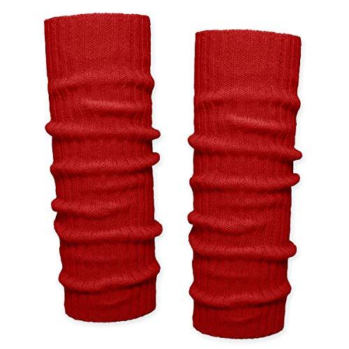 SoulCats SoulCats® 1 Paar Grobstrick Bein Stulpen unifarben in der Farbe rot