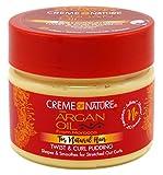 Creme of Nature Creme di Twist Natura Olio di Argan & Curl Pudding 11.5 once (340ml) (3 Pack)