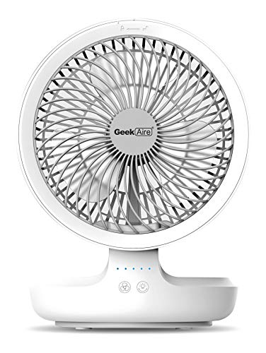 Geek Aire GF6, 8 Inch Rechargeable Mini Fan with 4000 mAh...