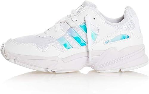 Adidas Wmn Jung 96 J Weiß Silber Größe  6,5(40) Farbe  Weiß