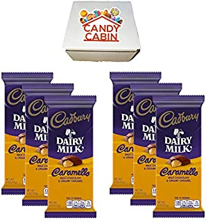Cadbury Chocolate Candy Bar Variety Box (6-Count) Full Size Bars By CANDY CABIN (CARAMELLO)