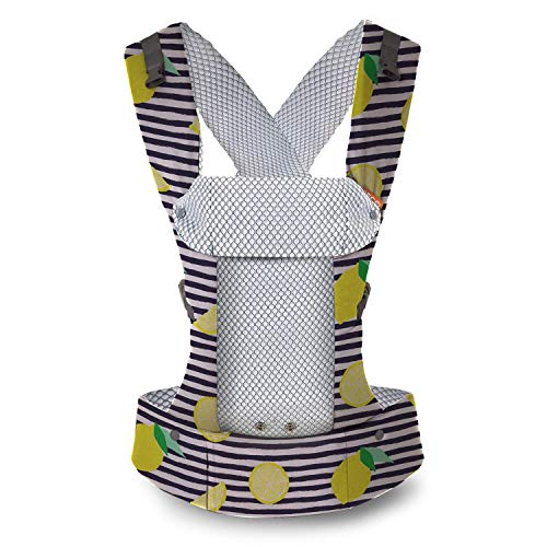 Beco Gemini Baby Carrier - Cool Lemons, Sleek and Simple 5-in-1 All Position Backpack Style Sling for Holding Babies, Infants and Child from 7-35 lbs Certified Ergonomic