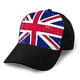 LJKHas232 Vintage Denim Cap Hat Ajustable Sports Trucker Gorra de béisbol shabbritish Flag Flag GB Grunge Style Plain Cap