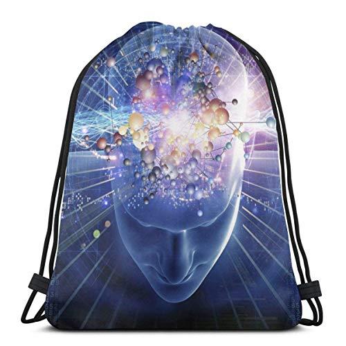 LREFON Bolsas con cordón para gimnasio, mochila, mochila para el cerebro indiferente,...