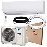 DAIKIN 24,000 BTU 18 SEER Wall-Mounted Ductless Mini-Split A/C Heat Pump System Maxwell 15-ft Installation Kit (230V) 12 Year Limited Warranty (24,000 BTU_208-230V)