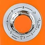 Syntrox Germany 3 Kg WM-380W Waschmaschine mit Schleuder Campingwaschmaschine Mini Waschmaschine (Orange) - 5