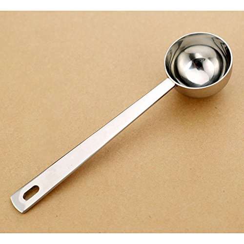 Zehui Coffee Spoon Coffee Milk Powder Ice Cream Spoon Stainless Steel Thick Measuring Long Handle 15ml No Word