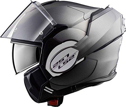 LS2 Casco moto VALIANT MATT TITANIUM, Titanium, S