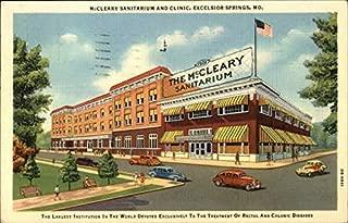 McCleary Sanitarium and Clinic Excelsior Springs, Missouri Original Vintage Postcard