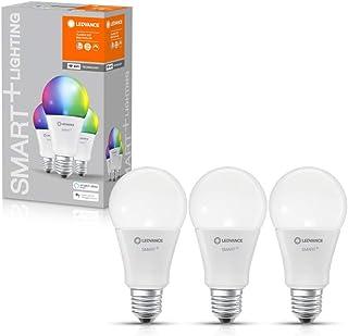 LEDVANCE Lámpara LED inteligente con tecnología WiFi, enchufe E27, regulable, color de luz cambiante(2700-6500K), colores RGB cambiables, reemplazo de 100W,SMART+ WiFi Classic Multicolour,paquete de 3