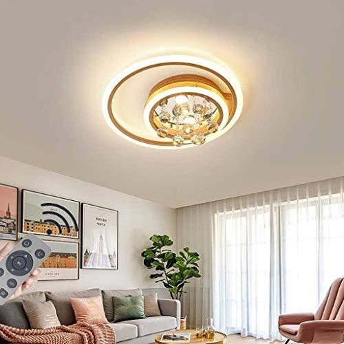 HTL Decorativas Luces Led Luz de Techo Regulable Moderna 2 Del Anillo de la Lámpara de Techo con Mando a Distancia Del Accesorio de Iluminación de la Sala de Estar Dormitorio Sala de Estudio Isla de
