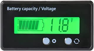 XCSOURCE Waterproof 12/24/36/48V LCD Lead-acid Battery and Lithium Battery Capacity Tester Voltage Meter Monitor Green Backlight for Vehicle Battery BI727