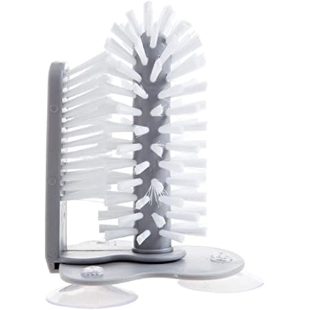 Bottle Cleaning Brush Glass Cup Washer with Suction Base Bristle Kitchen Sink Home Tool butterfunny Lazy Cup Brush