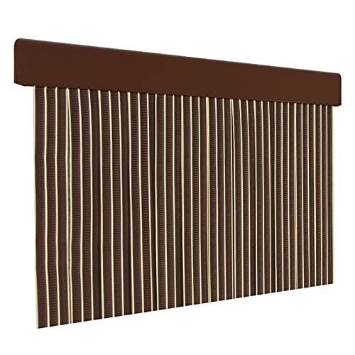 HOME MERCURY – Cortina plana para puerta exterior o interior, material PVC – libre de insectos (210x90CM, PERFIL MARRON P18)