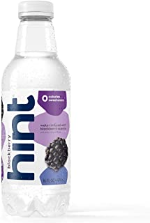 Hint Water Blackberry, (Pack of 12) 16 Ounce Bottles, Pure Water Infused with Blackberry, Zero Sugar, Zero Calories, Zero Sweeteners, Zero Preservatives, Zero Artificial Flavors