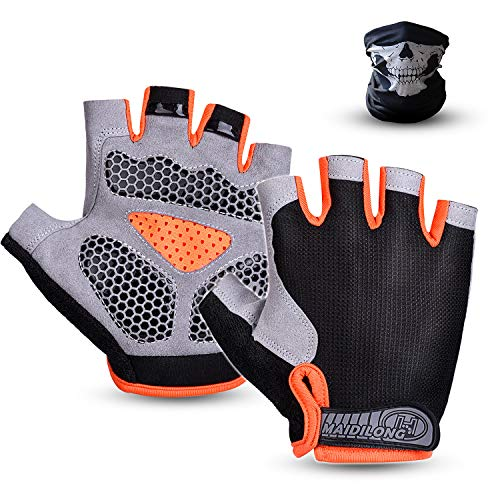 Suxman Mountain Bike Gloves Half Finger Cycling Gloves Bicycle Gloves for Men and Women Foam Pad Shockproof Anti-Slip Breathable Biking Gloves Outdoor