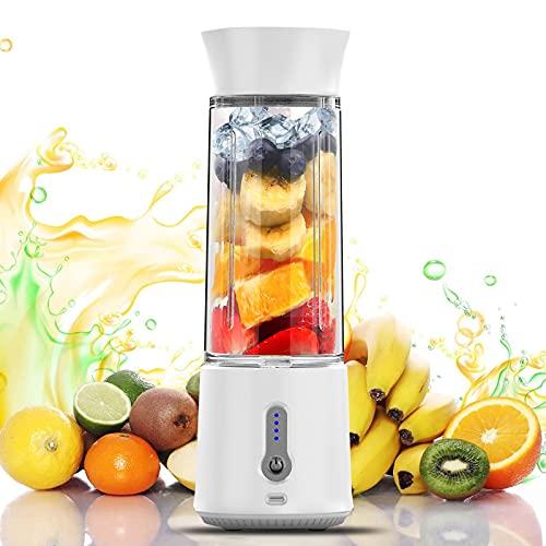 Tragbarer Mixer, 16.9 Oz Mini Standmixer, 4000mAh Usb Wiederaufladbar Persönlicher Juice Blender, 150 Watt Entsafter mit 6 Edelstahlmesser, Smoothie Maker Inkl für Saft,...