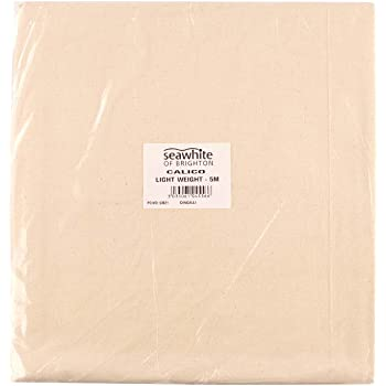 1.6m wide sold in 5m lengths Cream 100/% cotton medium weight calico
