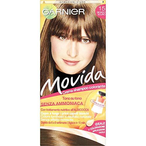 Garnier Tinta Capelli Movida, Crema Colorante per Capelli, Biondo Scuro