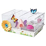 MidWest Homes for Pets Hamster Cage | Beautiful Butterfly Theme | Accessories & Decals Included