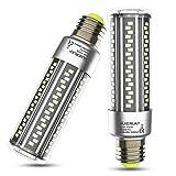 Lampadina LED E27 Luce Bianco Caldo 20W Lampadine E27 Led Mais 3000K 2500LM, 200W Equivalenti a Incandescenza, Lampadina Pannocchia Led E27 Lampada Risparmio Energetico, Non Dimmerabile - 2 Pezzi
