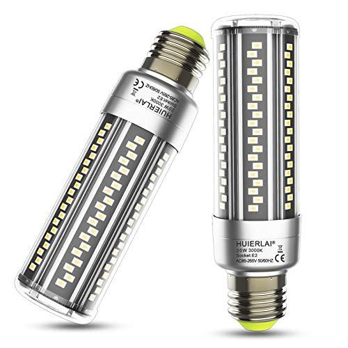 20W E27 LED Warmweiß Led E27 Mais Birne 3000K 2500LM Ersatz 200W Glühlampe, E27 Led Glühbirnen led Maiskolben Lampen Led E27 Energiesparlampe Birnen Leuchtmittel Kerze Licht E27 Lampe, 2er Pack