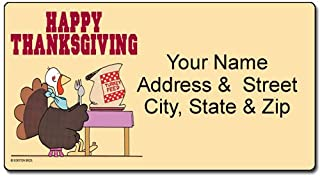 Thanksgiving Address Label - Customized Return Address Label - 90 Labels