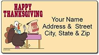thanksgiving return address labels