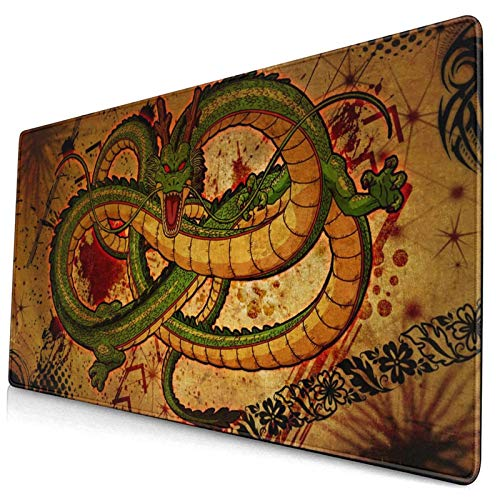 Shenron Dragon Large Gaming Mouse Pads,with Non-Slip Computers Laptop Office&Home 750×400×3mm (29.5×15.8×0.12 Inch)