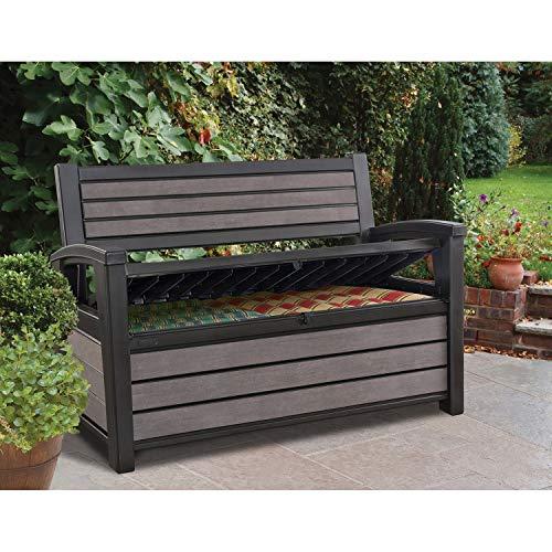 KETER Hudson Plastic Storage Bench Deck Box