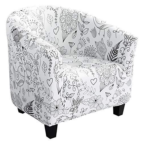 Souarts Sesselüberwürfe Sesselschoner Sesselhusse Sesselbezug Jacquard Elastisch Stretch Husse für Cafe Stuhl Sessel