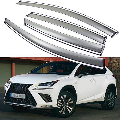 SPEEDLONG Car Window Visor Vent Shade Deflector Sun/Rain Guards Compatible with 2015-2020 Lexus NX 200t/300/300h