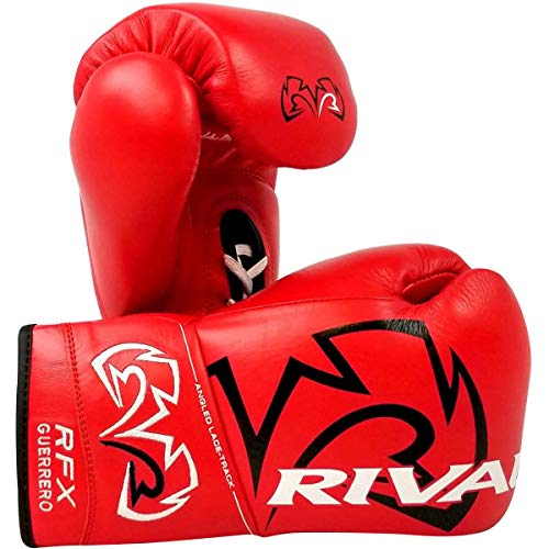 RIVAL Boxing RFX Guerrero HDE-F Pro Fight Lace Up Boxing Gloves - 10 oz. - Red