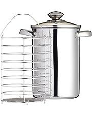 Kitchen Craft - Vaporera para espárragos, acero inoxidable, 3L, 24.6 x 21.6 x 16.6 cm
