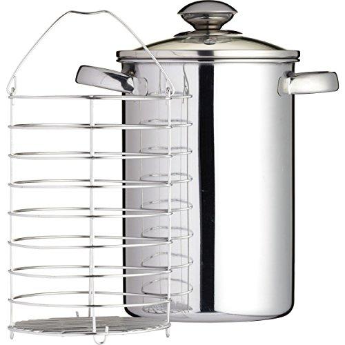 Kitchen Craft - Vaporera para espárragos, acero inoxidable,