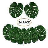 Kalolary 24pc Artificiale Foglie di Palma Tropicale, Grandi Foglie di Palma Finto per Hawa...