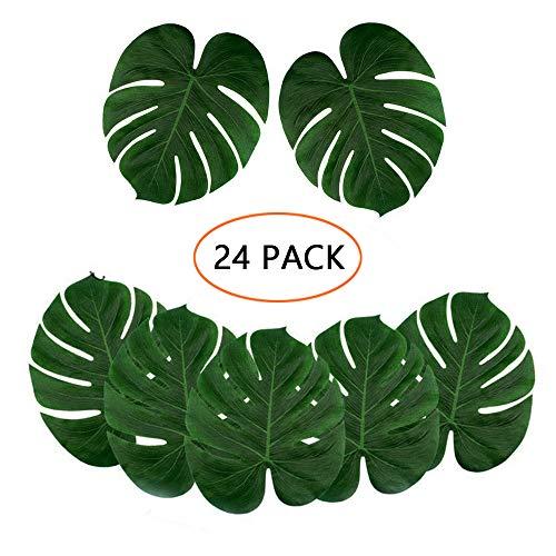 "12pcs Tropical imitation feuilles 8/"" Hawaiian Party Jungle BEACH theme decor"