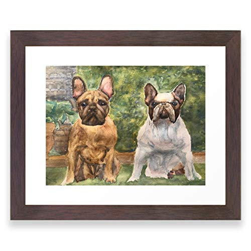 Society6 French Bulldogs at The Ready by Perry Payne Art & Design on Framed Art Print
