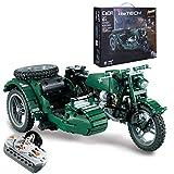ZCXX CADA 629 piezas 2,4 GHz RC Militar Moto Custom Motorcycle Set de construcción compatible con Lego Technic