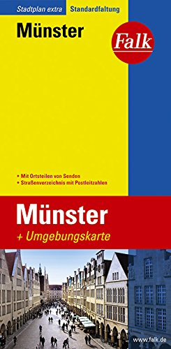 Falk Stadtplan Extra Standardfaltung Münster Cityplan von Telgte